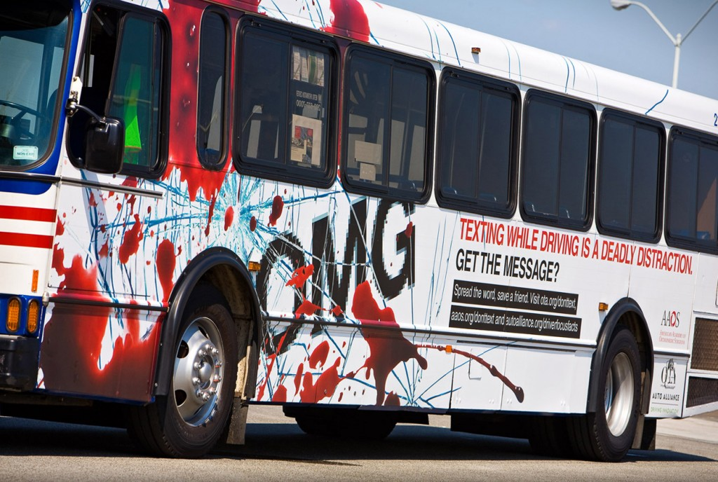 AAOS - Distracted Driving - Bus Wrap