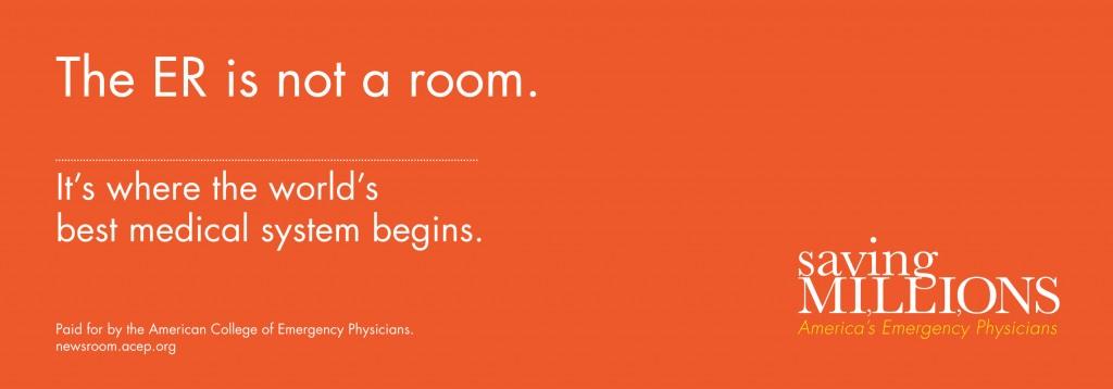 ACEP - Saving Millions - ER Room Ad