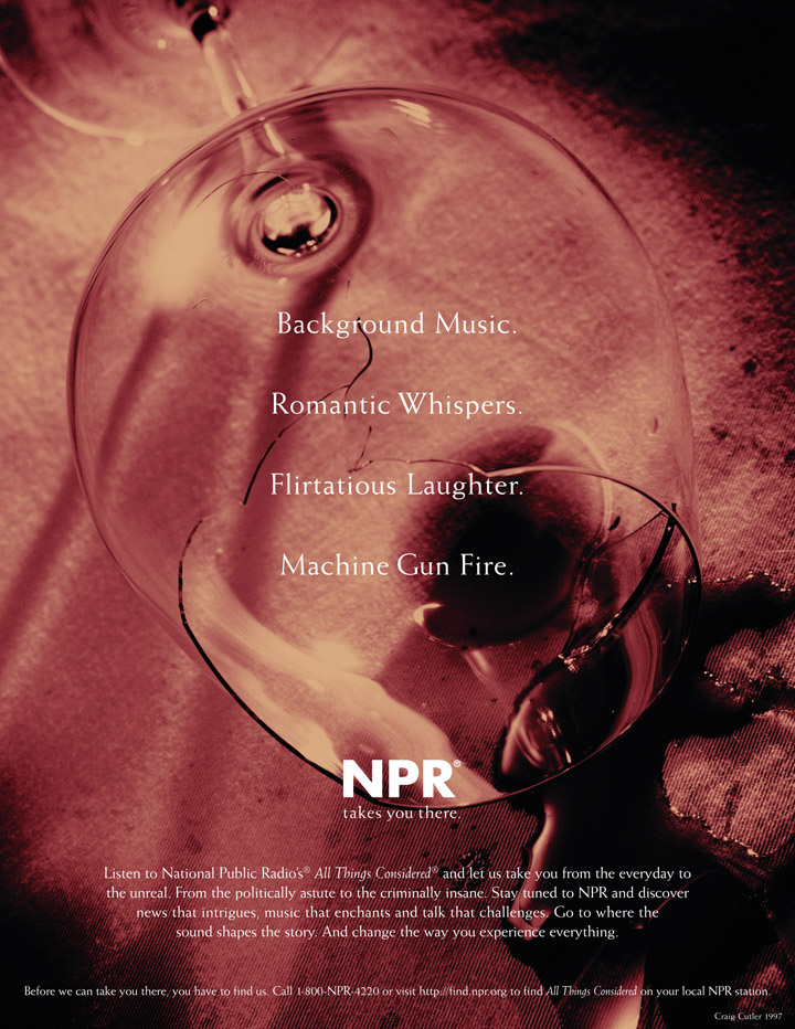 NPR Branding - Wine Glass Ad