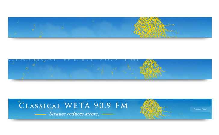 WETA Classical - Branding - Web Banner
